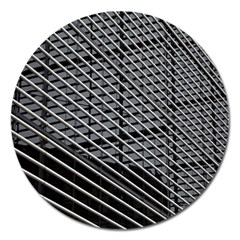 Abstract Architecture Pattern Magnet 5  (round)