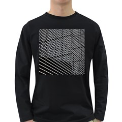 Abstract Architecture Pattern Long Sleeve Dark T Shirts