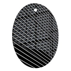 Abstract Architecture Pattern Oval Ornament (two Sides)