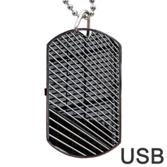 Abstract Architecture Pattern Dog Tag Usb Flash (one Side) by Nexatart