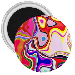 Colourful Abstract Background Design 3  Magnets by Nexatart