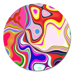 Colourful Abstract Background Design Magnet 5  (round) by Nexatart
