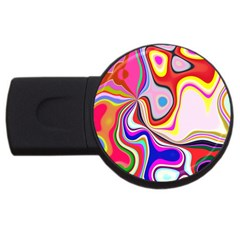 Colourful Abstract Background Design Usb Flash Drive Round (2 Gb) by Nexatart