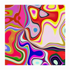 Colourful Abstract Background Design Medium Glasses Cloth (2 Side) by Nexatart