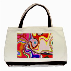 Colourful Abstract Background Design Basic Tote Bag (two Sides)