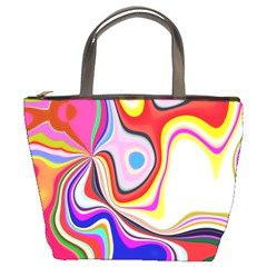 Colourful Abstract Background Design Bucket Bags by Nexatart