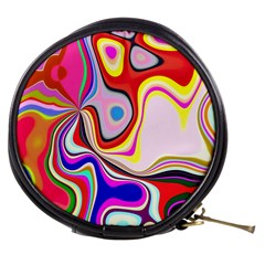 Colourful Abstract Background Design Mini Makeup Bags by Nexatart