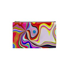Colourful Abstract Background Design Cosmetic Bag (small)