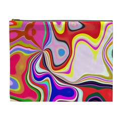 Colourful Abstract Background Design Cosmetic Bag (xl)
