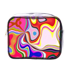 Colourful Abstract Background Design Mini Toiletries Bags by Nexatart