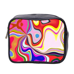 Colourful Abstract Background Design Mini Toiletries Bag 2 Side by Nexatart