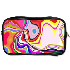 Colourful Abstract Background Design Toiletries Bags 2 Side by Nexatart