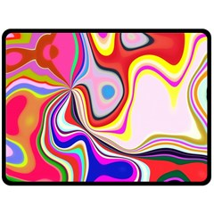 Colourful Abstract Background Design Fleece Blanket (large)