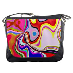 Colourful Abstract Background Design Messenger Bags by Nexatart