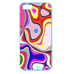 Colourful Abstract Background Design Apple Seamless Iphone 5 Case (color)