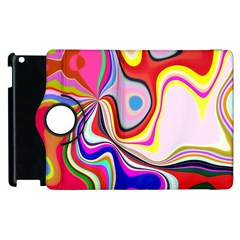 Colourful Abstract Background Design Apple Ipad 3/4 Flip 360 Case