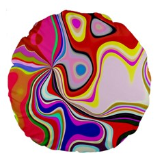 Colourful Abstract Background Design Large 18  Premium Round Cushions by Nexatart