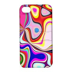 Colourful Abstract Background Design Apple Iphone 4/4s Hardshell Case With Stand by Nexatart