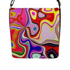 Colourful Abstract Background Design Flap Messenger Bag (l)  by Nexatart
