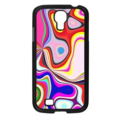 Colourful Abstract Background Design Samsung Galaxy S4 I9500/ I9505 Case (black) by Nexatart