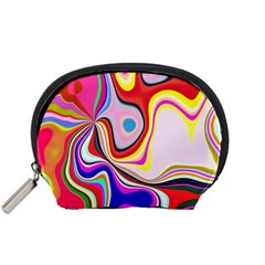 Colourful Abstract Background Design Accessory Pouches (small)