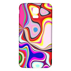 Colourful Abstract Background Design Samsung Galaxy S5 Back Case (white) by Nexatart