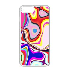 Colourful Abstract Background Design Apple Iphone 7 Plus White Seamless Case by Nexatart