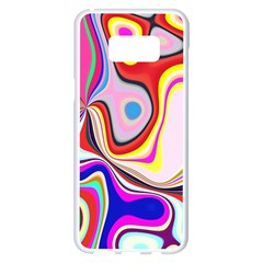 Colourful Abstract Background Design Samsung Galaxy S8 Plus White Seamless Case by Nexatart
