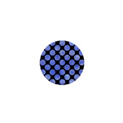Circles2 Black Marble & Blue Watercolor 1  Mini Button by trendistuff