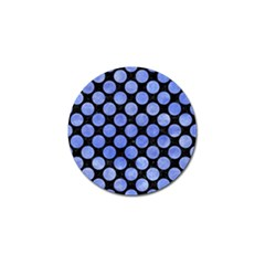Circles2 Black Marble & Blue Watercolor Golf Ball Marker by trendistuff