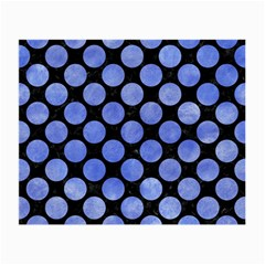 Circles2 Black Marble & Blue Watercolor Small Glasses Cloth (2 Sides) by trendistuff