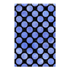 Circles2 Black Marble & Blue Watercolor Shower Curtain 48  X 72  (small) by trendistuff