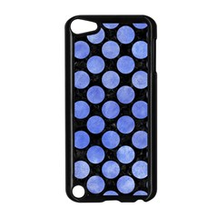 Circles2 Black Marble & Blue Watercolor Apple Ipod Touch 5 Case (black) by trendistuff