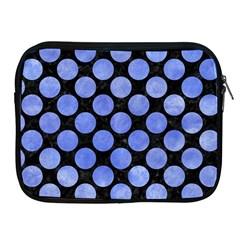 Circles2 Black Marble & Blue Watercolor Apple Ipad Zipper Case by trendistuff