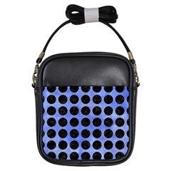 Circles1 Black Marble & Blue Watercolor (r) Girls Sling Bag by trendistuff