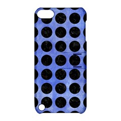 Circles1 Black Marble & Blue Watercolor (r) Apple Ipod Touch 5 Hardshell Case With Stand by trendistuff