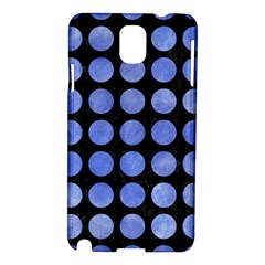 Circles1 Black Marble & Blue Watercolor Samsung Galaxy Note 3 N9005 Hardshell Case by trendistuff