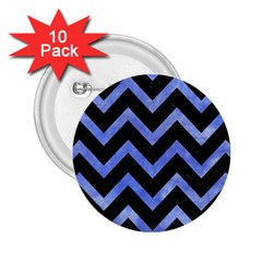 Chevron9 Black Marble & Blue Watercolor 2 25  Button (10 Pack) by trendistuff