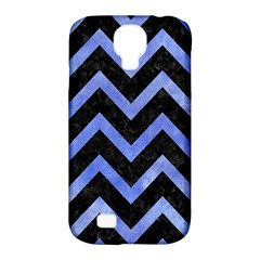 Chevron9 Black Marble & Blue Watercolor Samsung Galaxy S4 Classic Hardshell Case (pc+silicone) by trendistuff