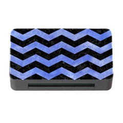 Chevron3 Black Marble & Blue Watercolor Memory Card Reader With Cf by trendistuff