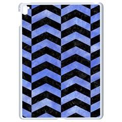 Chevron2 Black Marble & Blue Watercolor Apple Ipad Pro 9 7   White Seamless Case by trendistuff