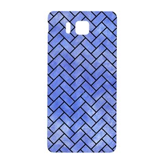 Brick2 Black Marble & Blue Watercolor (r) Samsung Galaxy Alpha Hardshell Back Case by trendistuff