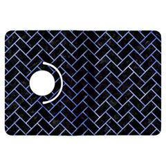 Brick2 Black Marble & Blue Watercolor Kindle Fire Hdx Flip 360 Case by trendistuff