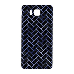 Brick2 Black Marble & Blue Watercolor Samsung Galaxy Alpha Hardshell Back Case by trendistuff