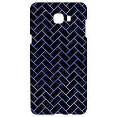 Brick2 Black Marble & Blue Watercolor Samsung C9 Pro Hardshell Case  by trendistuff