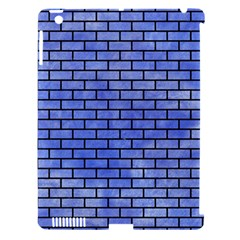 Brick1 Black Marble & Blue Watercolor (r) Apple Ipad 3/4 Hardshell Case (compatible With Smart Cover) by trendistuff