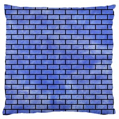 Brick1 Black Marble & Blue Watercolor (r) Large Cushion Case (two Sides) by trendistuff