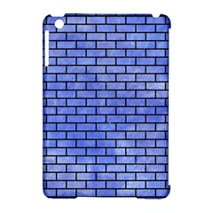 Brick1 Black Marble & Blue Watercolor (r) Apple Ipad Mini Hardshell Case (compatible With Smart Cover) by trendistuff