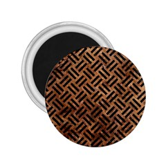 Woven2 Black Marble & Brown Stone (r) 2 25  Magnet by trendistuff
