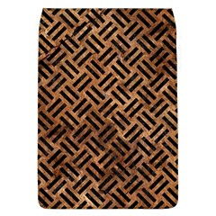 Woven2 Black Marble & Brown Stone (r) Removable Flap Cover (l) by trendistuff